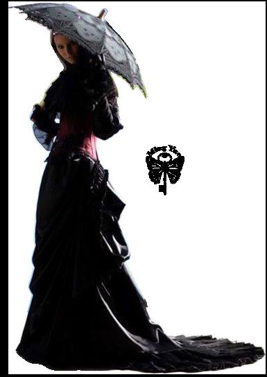 Femme Gothique Ombrelle